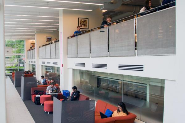 The interior of the Beatty Hall seating area.
