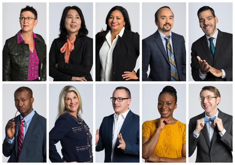 A grid of photos featuring the leadership headshots