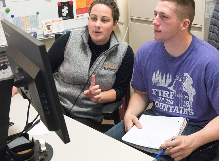 Co-ops + Careers advisors works with student to find placement opportunities.